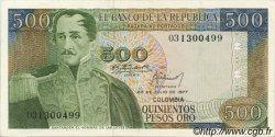 500 Pesos Oro COLOMBIE  1977 P.420a pr.NEUF