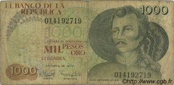 1000 Pesos Oro COLOMBIE  1979 P.421a B
