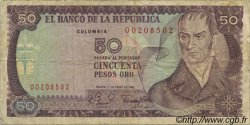 50 Pesos Oro COLOMBIE  1980 P.422a