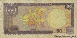50 Pesos Oro COLOMBIE  1980 P.422a TB