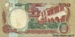 500 Pesos Oro COLOMBIE  1984 P.423b TTB