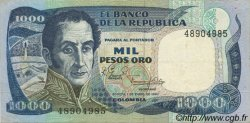 1000 Pesos Oro COLOMBIE  1982 P.424a pr.SUP