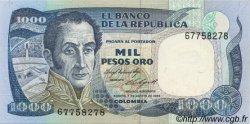 1000 Pesos Oro COLOMBIE  1984 P.424b NEUF