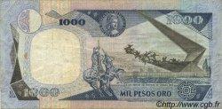 1000 Pesos Oro COLOMBIE  1986 P.424c TTB
