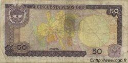 50 Pesos Oro COLOMBIE  1984 P.425a TB