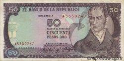 50 Pesos Oro COLOMBIE  1984 P.425a TTB