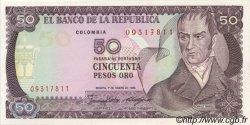 50 Pesos Oro COLOMBIE  1986 P.425b NEUF