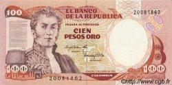 100 Pesos Oro COLOMBIE  1983 P.426a NEUF