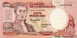 100 Pesos Oro COLOMBIE  1985 P.426b NEUF