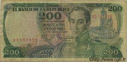 200 Pesos Oro COLOMBIE  1982 P.427 B à TB
