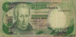200 Pesos Oro COLOMBIE  1983 P.428a pr.TB