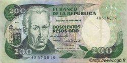 200 Pesos Oro COLOMBIE  1985 P.429b TTB+