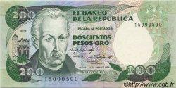 200 Pesos Oro COLOMBIE  1985 P.429b SPL