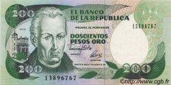 200 Pesos Oro COLOMBIE  1992 P.429A SPL+