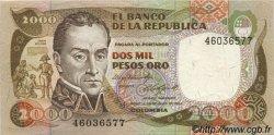 2000 Pesos Oro COLOMBIE  1984 P.430b SUP+