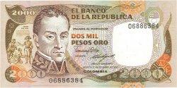 2000 Pesos Oro COLOMBIE  1986 P.430d NEUF