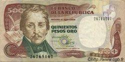500 Pesos Oro COLOMBIE  1993 P.431A TTB
