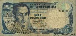 1000 Pesos Oro COLOMBIE  1990 P.432 B+