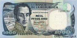 1000 Pesos Oro COLOMBIE  1990 P.432 pr.NEUF