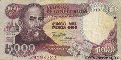 5000 Pesos Oro COLOMBIE  1987 P.435 pr.TTB