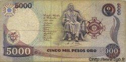 5000 Pesos Oro COLOMBIE  1990 P.436 TB