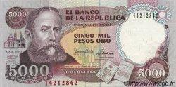 5000 Pesos Oro COLOMBIE  1990 P.436 NEUF