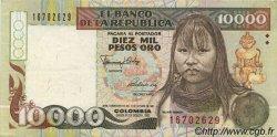 10000 Pesos Oro COLOMBIE  1992 P.437 SUP+