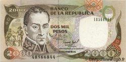 2000 Pesos COLOMBIE  1993 P.439a pr.NEUF