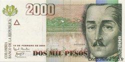 2000 Pesos COLOMBIE  2004 P.451 NEUF
