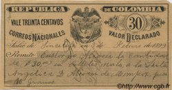 30 Centavos COLOMBIE  1899 PS.--- pr.SUP