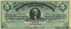 5 Pesos - 5 Dollars COLOMBIE  1880 PS.0809 pr.NEUF