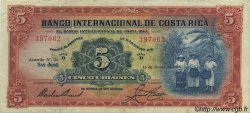 5 Colones COSTA RICA  1936 P.180a pr.TTB