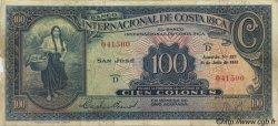 100 Colones COSTA RICA  1933 P.182a TB+