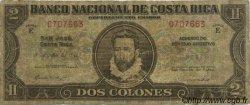 2 Colones COSTA RICA  1942 P.201b B