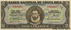 2 Colones COSTA RICA  1945 P.201d pr.NEUF