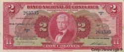 2 Colones COSTA RICA  1946 P.203a TTB+
