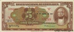 5 Colones COSTA RICA  1947 P.209c pr.NEUF