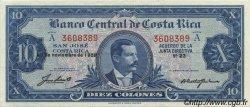 10 Colones COSTA RICA  1959 P.221c SUP