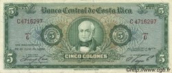 5 Colones COSTA RICA  1967 P.228 SUP