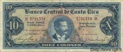 10 Colones COSTA RICA  1967 P.229 TTB+