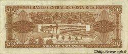 20 Colones COSTA RICA  1967 P.231 TB+