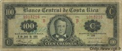 100 Colones COSTA RICA  1965 P.233a TB