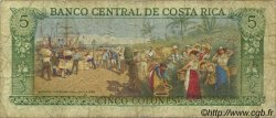 5 Colones COSTA RICA  1984 P.236d TB