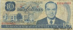 10 Colones COSTA RICA  1983 P.237b TB