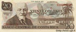 20 Colones COSTA RICA  1983 P.238c pr.NEUF