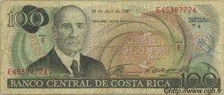 100 Colones COSTA RICA  1987 P.248b pr.TB