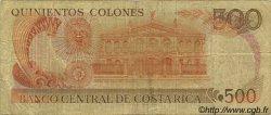 500 Colones COSTA RICA  1987 P.255 B+