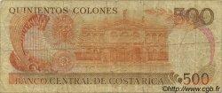 500 Colones COSTA RICA  1989 P.255 B