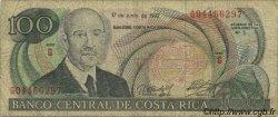 100 Colones COSTA RICA  1992 P.258 B+