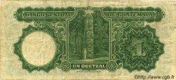 1 Quetzal GUATEMALA  1928 P.011a TB